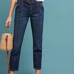 Anthropologie Pilcro High-Rise Crop Jean
